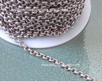 Antiqued Silver Rollo Chain CH350AS