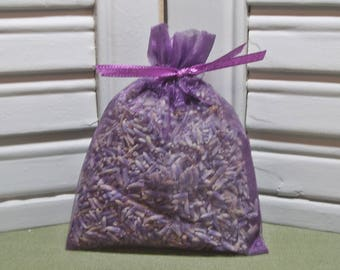 Party favor, dark purple organza bag, lavender sachet, bridal or baby shower, Thank You, 100% dried lavender for a fragrant aroma