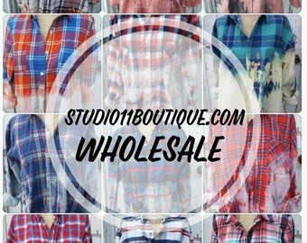 Wholesale Faded Vintage Wash Flannels