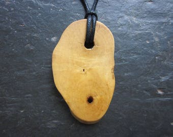Natural Wood Pendant - Elder - The Witches' Tree.