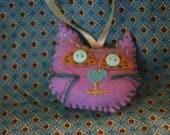 Creepy Cat Christmas Ornament