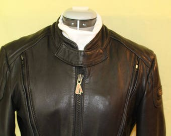 Vintage Black Leather HEIN GERICKE  Jacket, WOMEN'S, Size 42