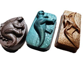 Dinosaur Soap Set of 3 Mineral-Inspired Soaps