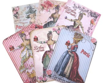 Note Cards Marie Antoinette, Blank Note Card Collection, Paris Let Them Eat Cake, Birthday, Bridal Shower, French Flat Cards,Australia