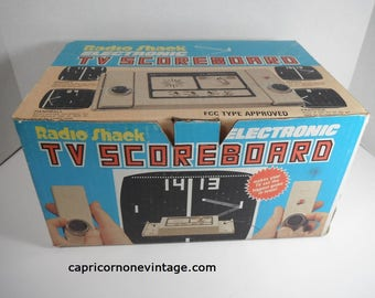 Vintage Video Game Console 1976 Radio Shack Electronic TV Scoreboard in Box 1970s Vintage Kitsch Movie Prop Video Game History