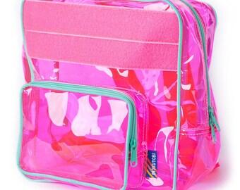 Neon Pink Vinyl Backpack