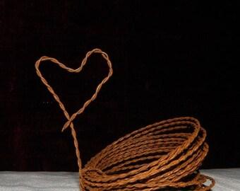 Save25% Rusty Twisted wire-Craft wire-Jewelry Wire-Wedding wire-Craft wire 15' roll
