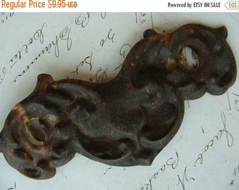 ON SALE One Antique Gothic Bat type Hardware Gorgeous