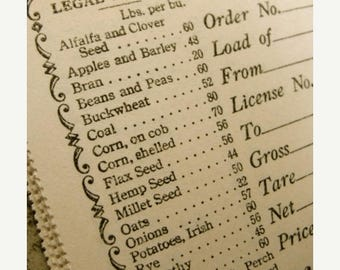 ONSALE Antique Ephemera 1930s One Dozen Antique unused Legal Weight Vouchers