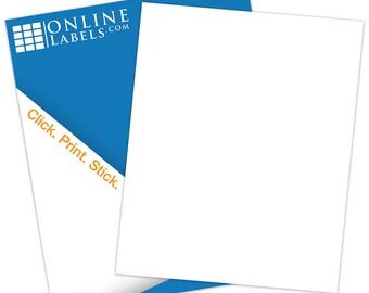 "Removable Sticker Paper (100 Sheets), White Matte Inkjet/Laser - 8.5"" X 11"""