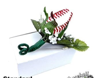 25% OFF SALE: Baseball Rose Boutonniere or Corsage