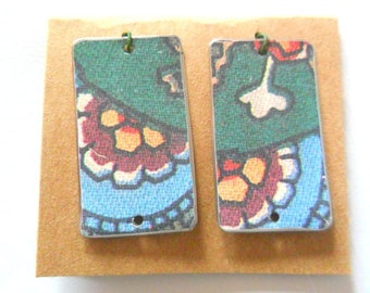 Reclaimed Upcycled Cookie Tin Earring Findings