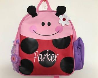 Personalized Stephen Joseph Mini Sidekicks Ladybug  Backpack