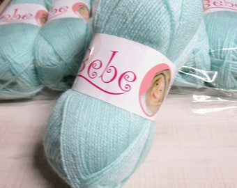 Oxford Bebe Baby Yarn in Baby Green