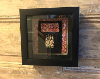 Framed Heart OOAK Valentine Free Motion Embroidery