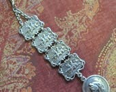 Vintage Watch Fob. Silver Watch Fob. Horse Race Fob, Race Horse Fob