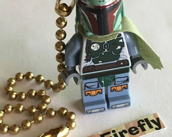 Lego Star Wars Fan Pull Chain Lego Boba Fett Fan Pull Lego Mini Fig Toy Boy's Room Decor Boy's Fan Pull Lego Toy Lego Mini Figure Mini Fi