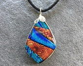 Independence Dichroic Glass Pendant