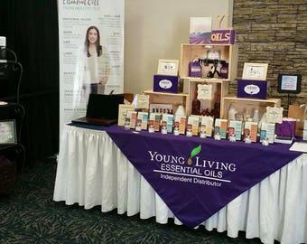 Custom Vendor Tablecloth Overlay- Young Living - Your Logo