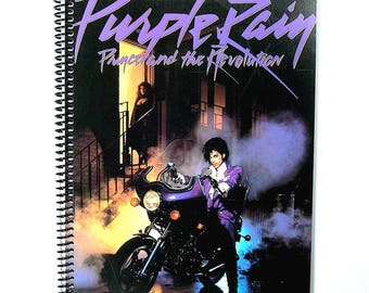 Prince and The Revolution Spiral Notebook / Journal Vinyl Record Album Cover Art 1984 (Purple Rain)
