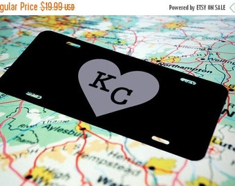 ON SALE Personalized License Plate, Custom License Plate, Monogram, Name, Art, KC, Kansas City, Front License Plate,