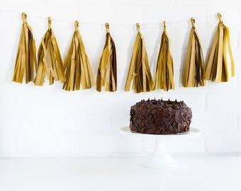 Gold Tassel Banner - Gold Tassel Banner - Gold Tassel Garland - Gold Banner - Gold Banner - Wedding Tassel Banner - Golden Tassel PLCP38