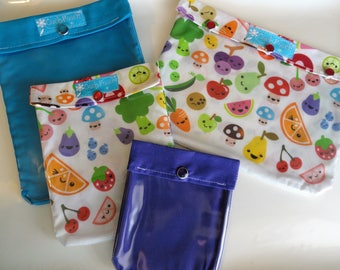 Fruit and Veggies Ouch Pouch Clear Front Pocket Organizers 4 Sizes First Aid Meds Cosmetics Diaper Bag Organizers Cute for JuJuBe