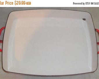 ON SALE Vintage Dansk Kobenstyle Chili Red Rectangular Baker Casserole