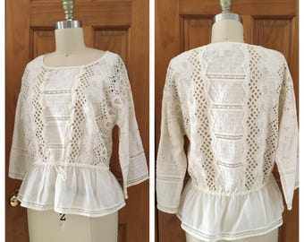 vintage Edwardian inspired lace blouse