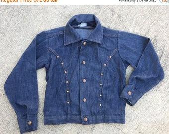 "Black Friday 40% OFF SALE The Vintage ""Billy The Kid"" Children's Studded Denim Jean Jacket"