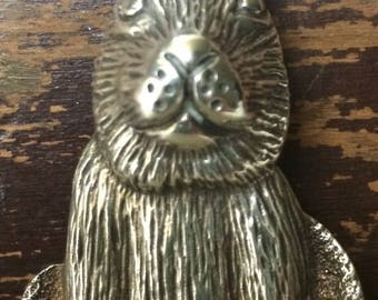 Vintage Taxco Mexico Sterling Bunny Rabbit Pin Brooch Pendant