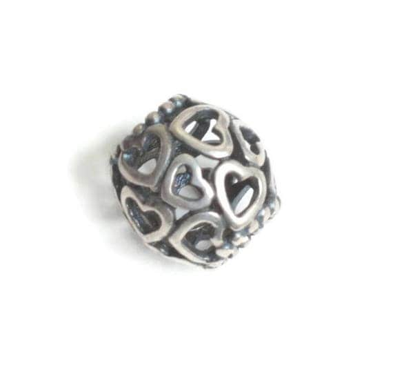 Pandora Open Your Heart Spacer Charm Hearts Cut Out Sterling Pre Owned