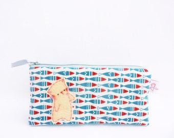 Pencil case, pencil pouch, pencil zip pouch, pencil bag, cat pencil case, makeup case, planner pouch, pencil wallet, cat pencil pouch, pouch