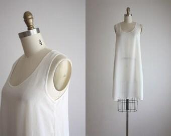 sheer white slip dress