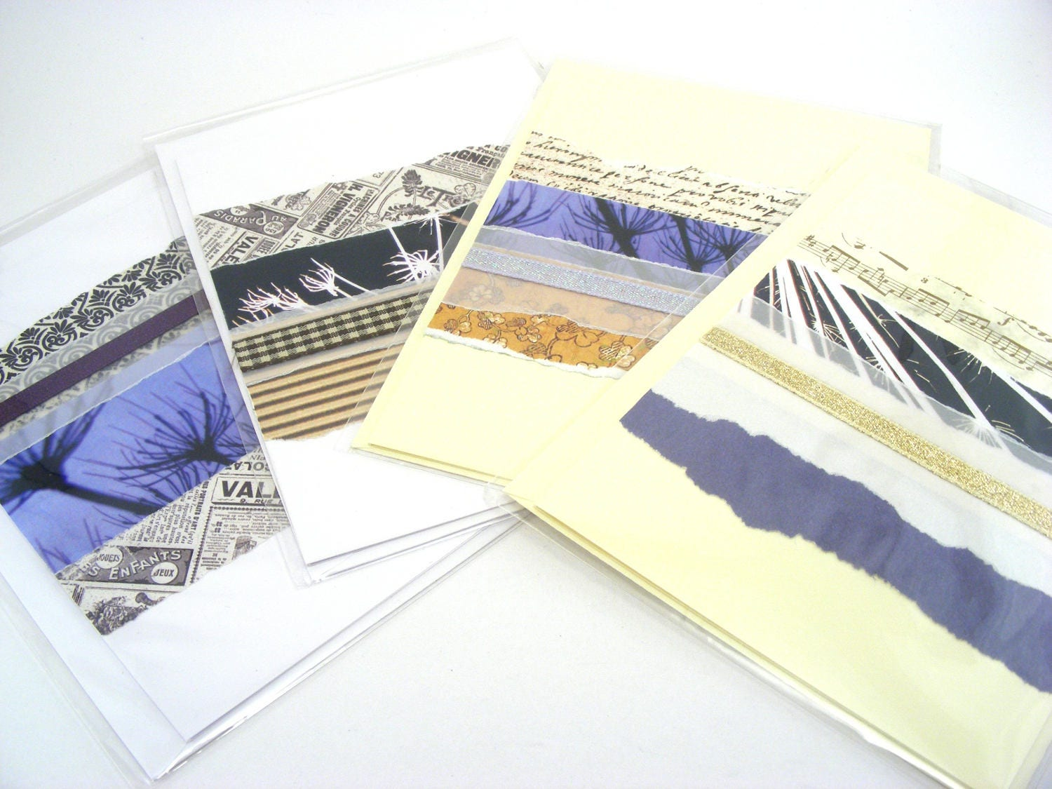 Ooak cards greeting cards set four pack blank cards blank ooak cards greeting cards set four pack blank cards blank greeting card kristyandbryce Image collections