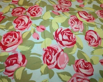 """Tumble Roses """"Love"""" by Amy Butler Rowan Westminster Fibers Almost 2 Yards"""