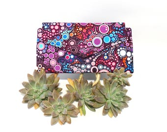 Long Wallet Women - Fabric Ladies Wallet - Vegan Wallet with coin pocket - clutch wallet - card holder wallet - phone wallet - thin wallet