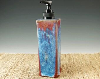Bath Soap Dispenser, Kitchen Decor, Soap Dispenser,  Dish Soap, Hand Soap Pump, Lotion Dispenser, Home Decor, Red and Blue, 416