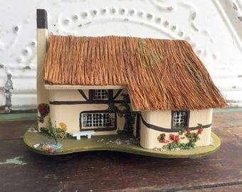 Vintage Music Box Reuge Cottage House Woodland Pauline Ralph Plays My Lady Greensleeves