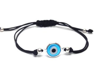 Evil eye bracelet  - blue eye  - protection - Greek jewelry - Greek lucky evil eye