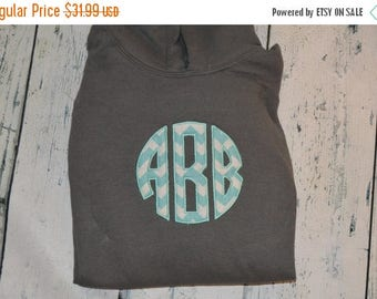 ON SALE YOUTH  Monogrammed Hooded Sweatshirt - Personalized Monogram Pullover for Kids