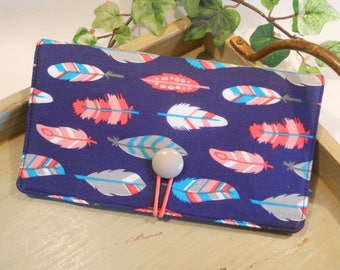 CHECKBOOK Cover...with Button and Elastic Closure and Vinyl ID Window
