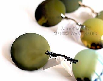 Yellow Polarized Sunglasses , Round Sunglasses ,  Retro Sunglasses , Glasses , Glasses , Steampunk Glasses , Steampunk , Mens Sunglasses