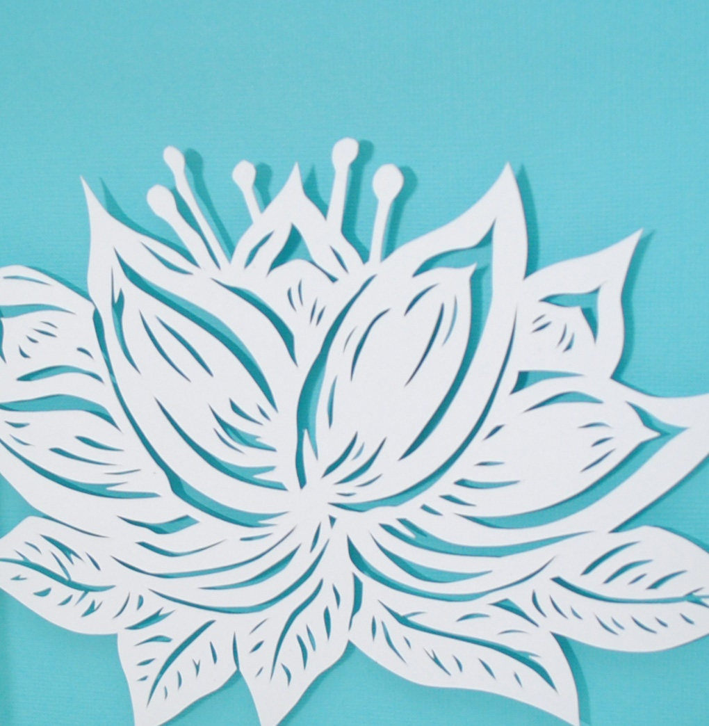Lotus flower paper cutting all white depth texture paper cut lotus flower paper cutting all white depth texture paper cut art mightylinksfo Gallery