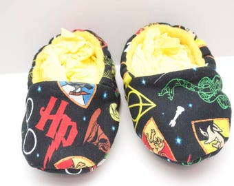 Harry Potter Inspired Baby Moccasins, Baby Shoes, Baby Slippers