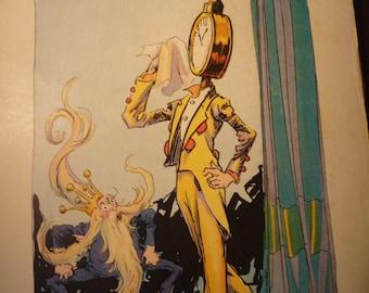 Clock Man Pirates of Oz John R Neill illustrator Pirate print - Wizard of Oz L Frank Baum color lithograph - 1931 - Nursery print framable