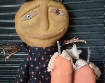Primitive Harvest Moon Doll ready to ship