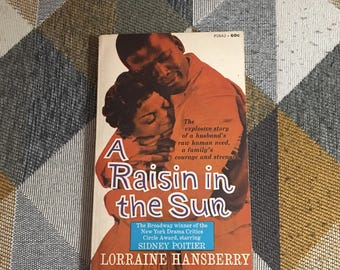Vintage 1966 A Raisin In The Sun Hansberry Book