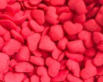 Red Hearts, Decor for Bath Bombs, Soap, Etc, 2 oz