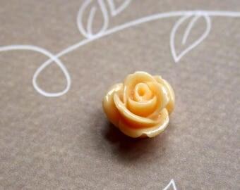 free UK postage- pack of 10 Orange Resin Flower Cabochons 12 mm